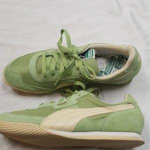 Puma lime green sneakers 8.5